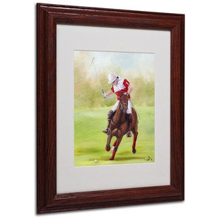 Michelle Moate 'Horse of Sport I' White Matte, Wood Framed Wall Art