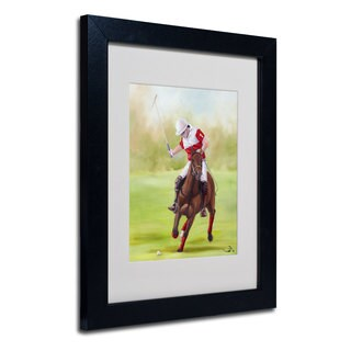 Michelle Moate 'Horse of Sport I' White Matte, Black Framed Wall Art