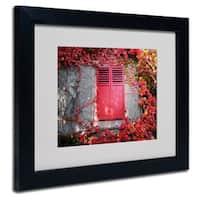 Philippe Sainte-Laudy 'Red Windowpane' White Matte, Black Framed Wall Art