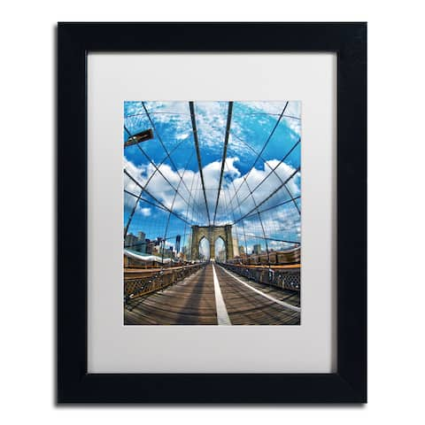 CATeyes 'Brooklyn Bridge' White Matte, Black Framed Wall Art