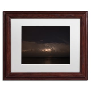 Kurt Shaffer 'Big Dipper Thunderstorm' White Matte, Wood Framed Wall Art