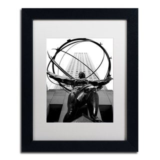CATeyes 'Atlas' White Matte, Black Framed Wall Art