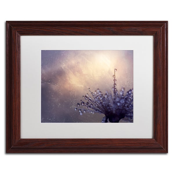 Beata Czyzowska Young 'All the Good Wishes' White Matte, Wood Framed Wall Art