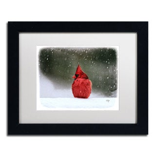 Lois Bryan 'A Ruby in the Snow' White Matte, Black Framed Wall Art