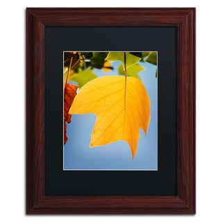 Philippe Sainte-Laudy 'Yellow Autumn' Black Matte, Wood Framed Wall Art