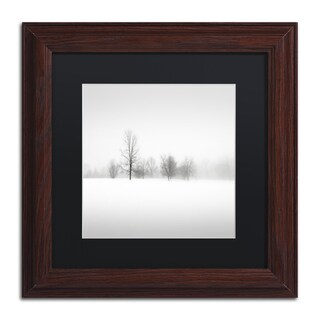 Dave MacVicar 'Winter Fog' Black Matte, Wood Framed Wall Art