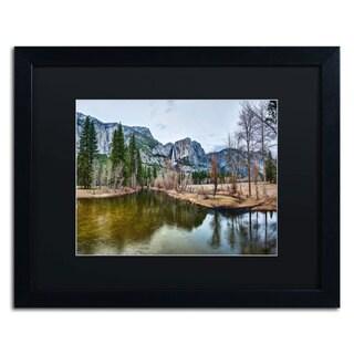 David Ayash 'Yosemite National Park - California-I' Black Matte, Black Framed Wall Art