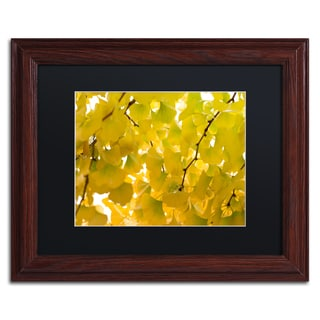 Philippe Sainte-Laudy 'Yellow Autumn' Black Matte, Wood Framed Wall Art