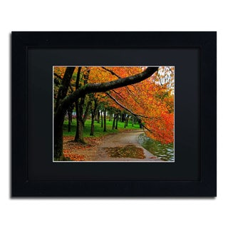 CATeyes 'Tidal Basin Autumn 2' Black Matte, Black Framed Wall Art