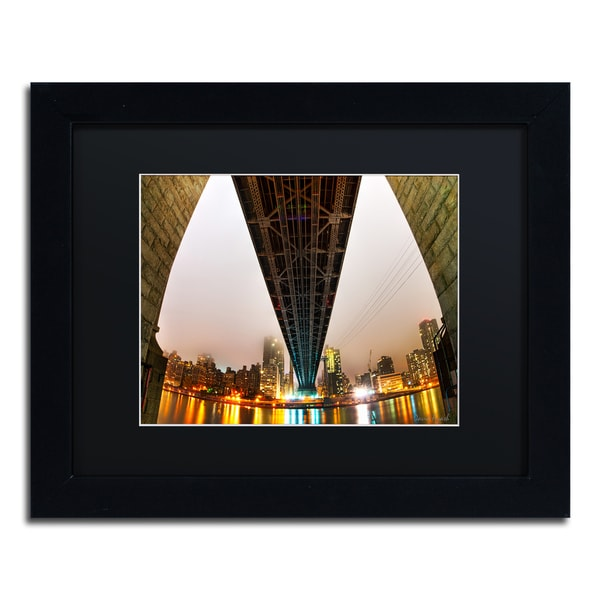 David Ayash 'Under the Queensboro Bridge' Black Matte, Black Framed Wall Art