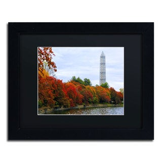 CATeyes 'Tidal Basin Autumn 3' Black Matte, Black Framed Wall Art