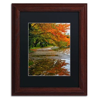 CATeyes 'Tidal Basin Autumn 1' Black Matte, Wood Framed Wall Art