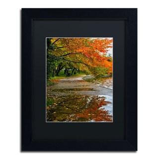 CATeyes 'Tidal Basin Autumn 1' Black Matte, Black Framed Wall Art