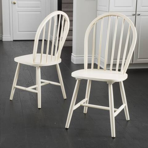 Countryside High Back Spindle Dining Chairs (Set of 2) by Christopher Knight Home