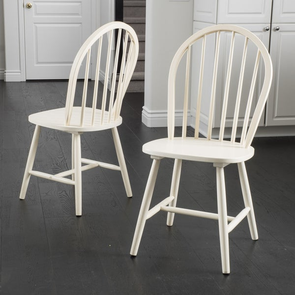 countryside high back spindle wood dining chair set of 2 by christopher knight home