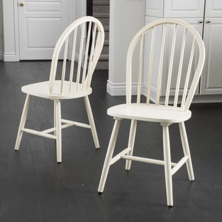 Countryside High Back Spindle Wood Dining Chair (Set Of 2) By Christopher  Knight Home
