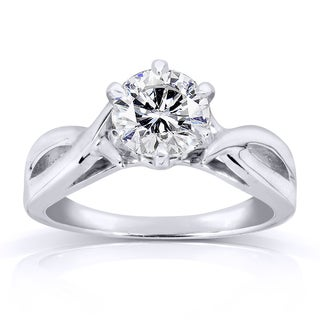 Annello by Kobelli 14k White Gold 1ct Diamond Solitaire Engagement Ring