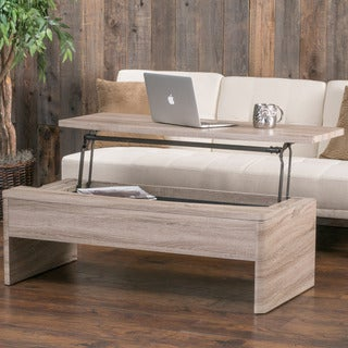 Xander Functional Lift-Top Wood Storage Coffee Table by Christopher Knight Home