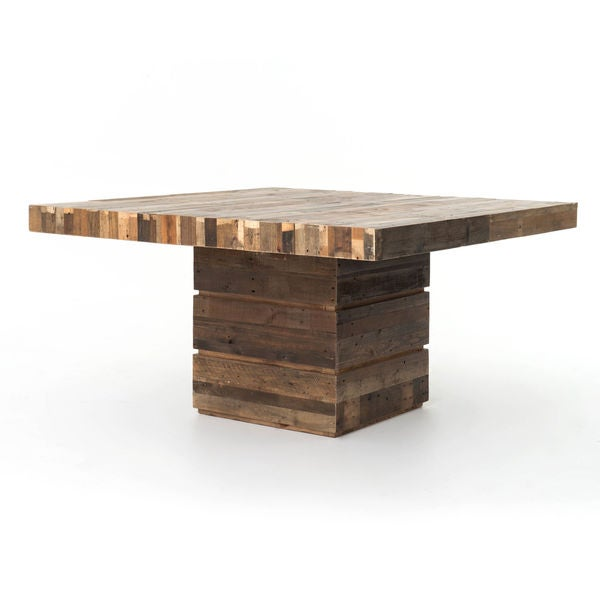 Angora Reclaimed Wood Square Dining Table Multi