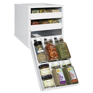 Original SpiceStack 18-bottle White Spice Organizer with Universal Drawers