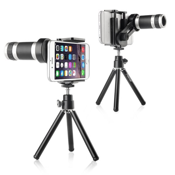 Insten 8X Telescope Phone Camera Zoom Lens with Tripod for Samsung Galaxy S6/ S5/