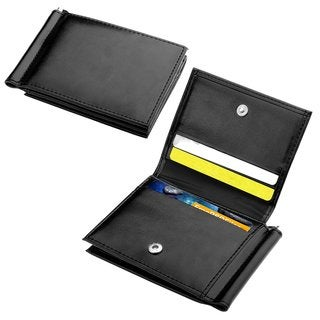 Zodaca Genuine 100-percent Leather Man Men Money Clip Card Holder Wallet with 10 Business/ Credit/ ID Card Slots