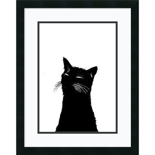 Alex Cherry 'Me Ow' Framed Art Print 19 x 24-inch