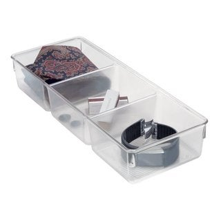 InterDesign Linus 3-Part Dresser Drawer Organizer