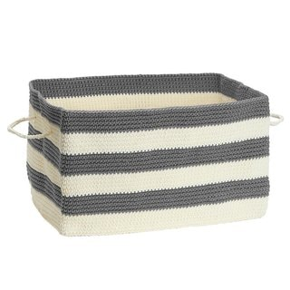 InterDesign Ellis Knit Bin With Handles