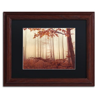 Philippe Sainte-Laudy 'The Last of Fall' Black Matte, Wood Framed Wall Art