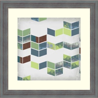 Jennifer Goldberger 'Broken Chevron I' Framed Art Print 18 x 18-inch