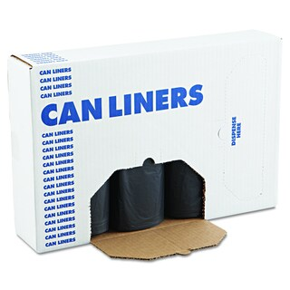 Boardwalk Black 40-45gal 40 x 46 SH-Grade Can Liners (4 Rolls of 25 Liners)