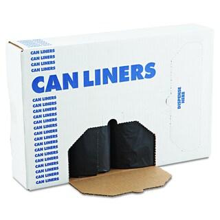 Boardwalk Black 56gal 43 x 47 SH-Grade Can Liners (4 Rolls of 25 Liners)