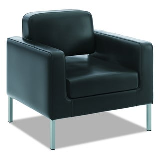 basyx by HON VL887 Black Leather Lounge Seating Series Club Chair