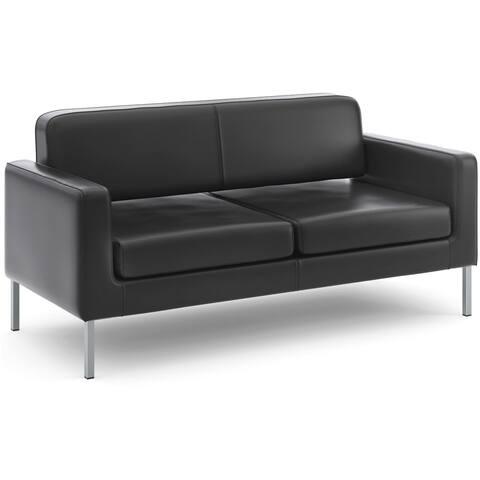 basyx by HON VL888 Series Black Reception Seating Sofa