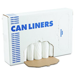 Boardwalk White 12-16 gal 24 x 32 EH-Grade Can Liners (20 Rolls of 25 Liners)