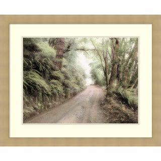 Laura Culver 'Lost Coast Road' Framed Art Print 33 x 27-inch