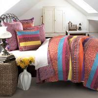 The Curated Nomad La Boheme Boho Stripe 5-piece Quilt Set