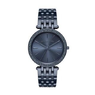 Michael Kors Women's Darci Analog Diamond Navy Stainless Steel Watch MK3417