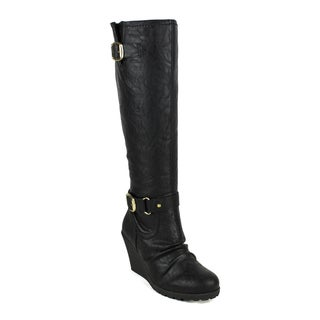 Fahrenheit women's Elsa-02 Knee-high Women's Wedge Boots
