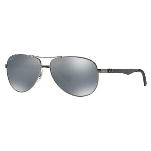 Ray-Ban Men's RB8313 Gunmetal Metal Pilot Polarized Sunglasses