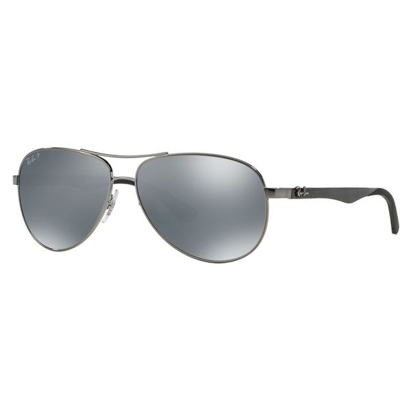 d40850badc4 Shop Ray-Ban Men s RB8313 Gunmetal Metal Pilot Polarized Sunglasses ...