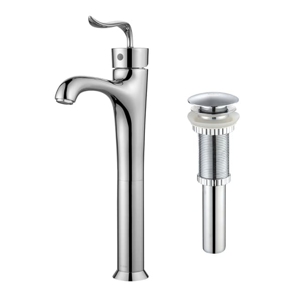Kraus Coda Single Hole Handle Bathroom Faucet With Matching Pop Up Drain In
