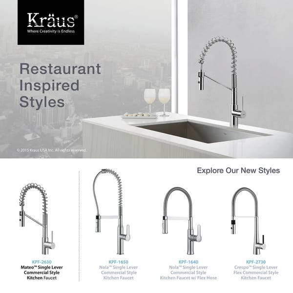 Shop KRAUS Oletto Single-Handle Commercial Style Kitchen ...