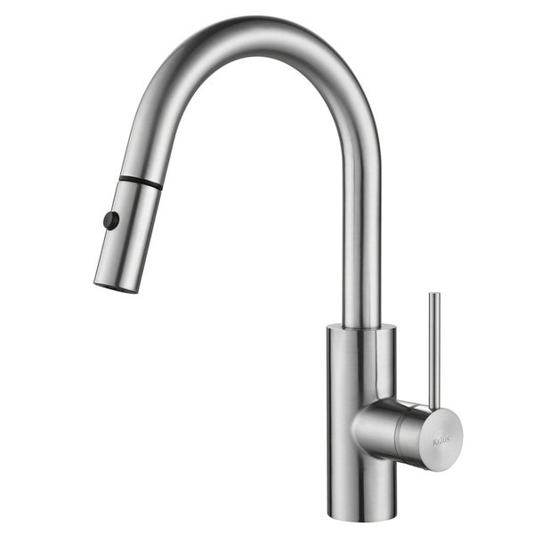 KRAUS Oletto Single-Handle Kitchen Faucet with Pull Down Dual-Function Sprayer