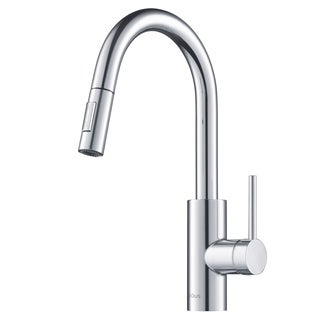 KRAUS Oletto Single-Handle Kitchen Faucet with Pull Down Dual-Function Sprayer (2 options available)