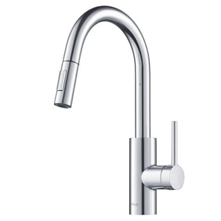 KRAUS Oletto Single Handle Kitchen Faucet With Pull Down Dual Function  Sprayer