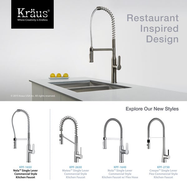 KRAUS Nola Single Handle Commercial Style Kitchen Faucet With Dual Function  Sprayer   Free Shipping Today   Overstock.com   17570605