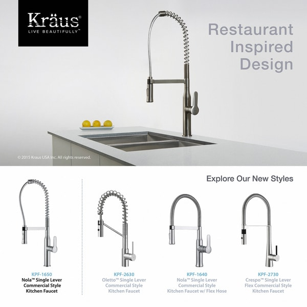 KRAUS Nola Single-Handle Commercial Style Kitchen Faucet with Dual-Function  Sprayer Stainless Steel (As Is Item)