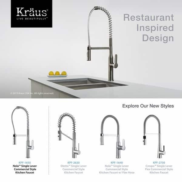 Shop Kraus KPF-1650 Nola Commercial Style 1-Handle 2 ...
